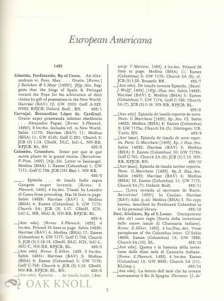 EUROPEAN AMERICANA: A CHRONOLOGICAL GUIDE TO WORKS PRINTED IN EUROPE RELATING TO THE AMERICAS, 1493-1750.