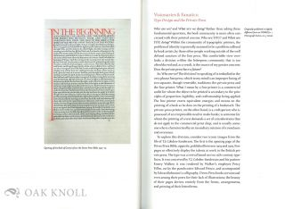 VISIONARIES & FANATICS: AND OTHER ESSAYS ON TYPE DESIGN, TECHNOLOGY, & THE PRIVATE PRESS.