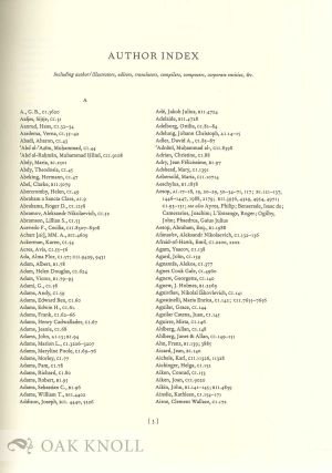 A CATALOGUE OF THE COTSEN CHILDREN'S LIBRARY: COMPREHENSIVE INDEX