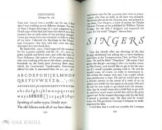 GOUDY'S TYPE DESIGNS, HIS STORY AND SPECIMENS.