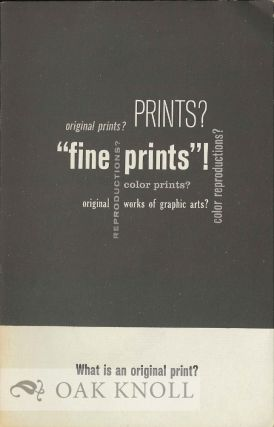 WHAT IS AN ORIGINAL PRINT?